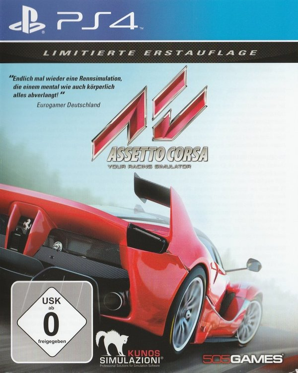 Assetto Corsa, Your Racing Stimulator, PS4