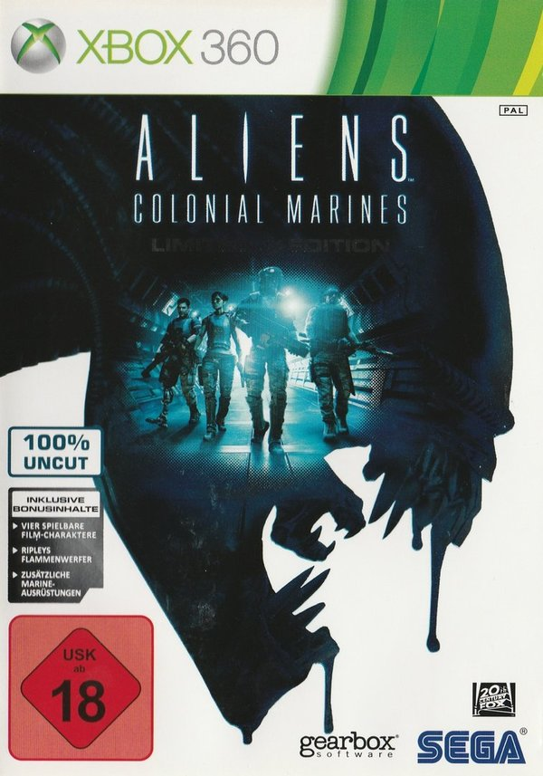 Aliens, Colonial Marines, Limited Edition, XBox 360