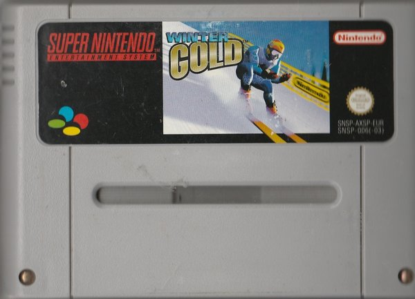 Winter Gold, SNES, ( das Modul )
