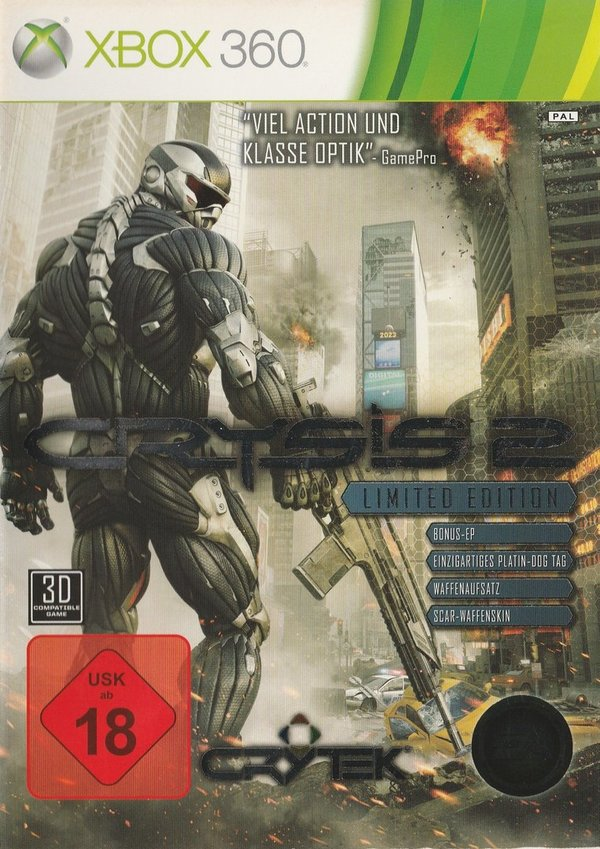 Crysis 2, Limited Edition, XB0x 360 / in Verrechnung
