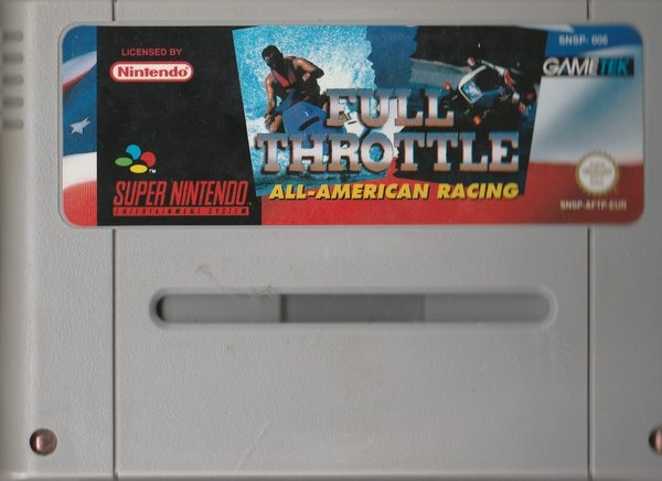 Full Throttle,  All-American Racing, SNES, ( das Modul ) / in Verrechnung