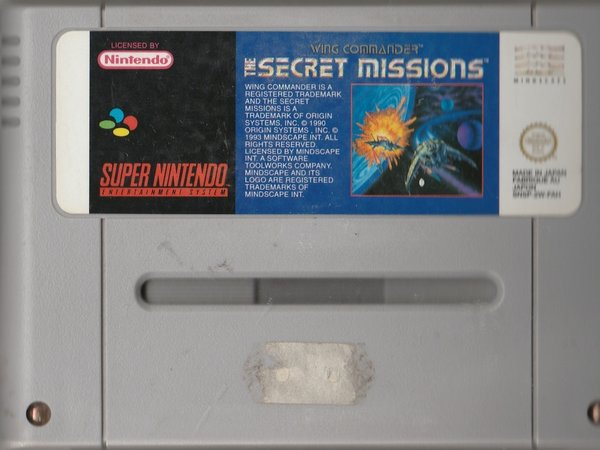 Wing Commander, The Secret Missions, SNES, ( das Modul ) / in Verrechnung