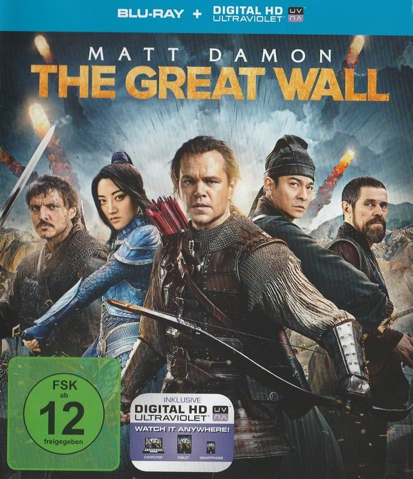 The Great Wall, Blu-Ray
